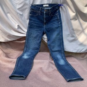 """Madewell 10"""" High-rise skinny size:25 distressed"""